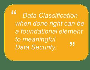 Data classification impact